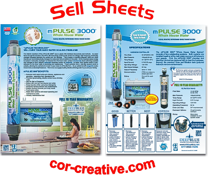 Product Sell Sheets and Flyers