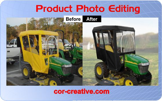 Product Photo Editing for tractor cover